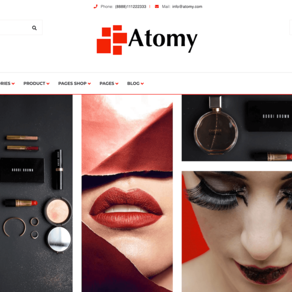 Demos Atomy minimal WordPress Shop Theme